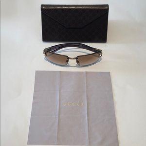 Gucci women's sunglasses brown gradient GG 2766